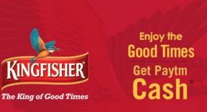 Free Paytm Cash on Kingfisher Beer