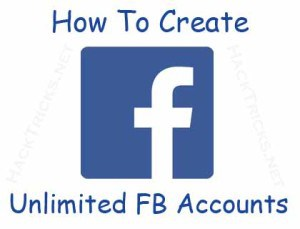 create unlimited facebook accounts
